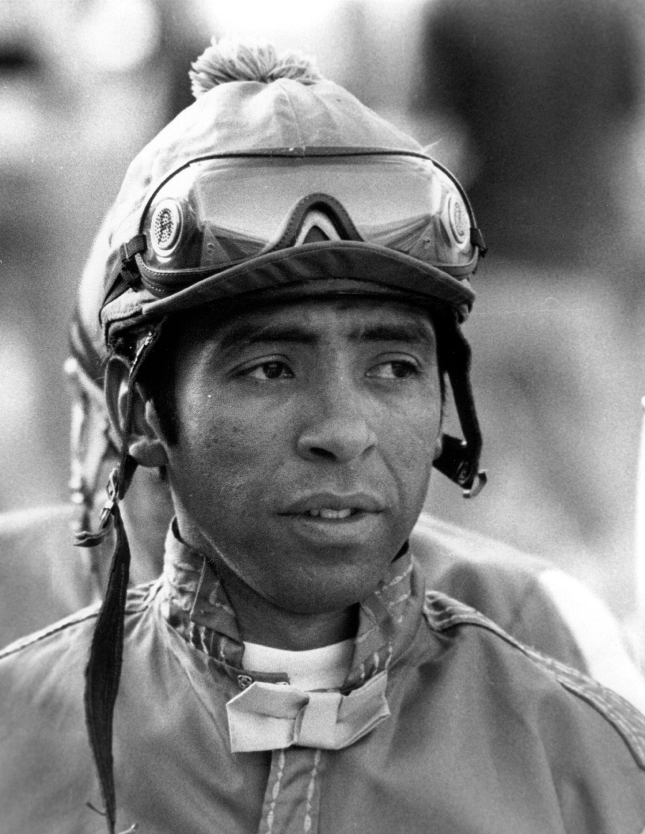 Angel Cordero, Jr. at Santa Anita Park, March 1979 (Bill Mochon/Museum Collection)