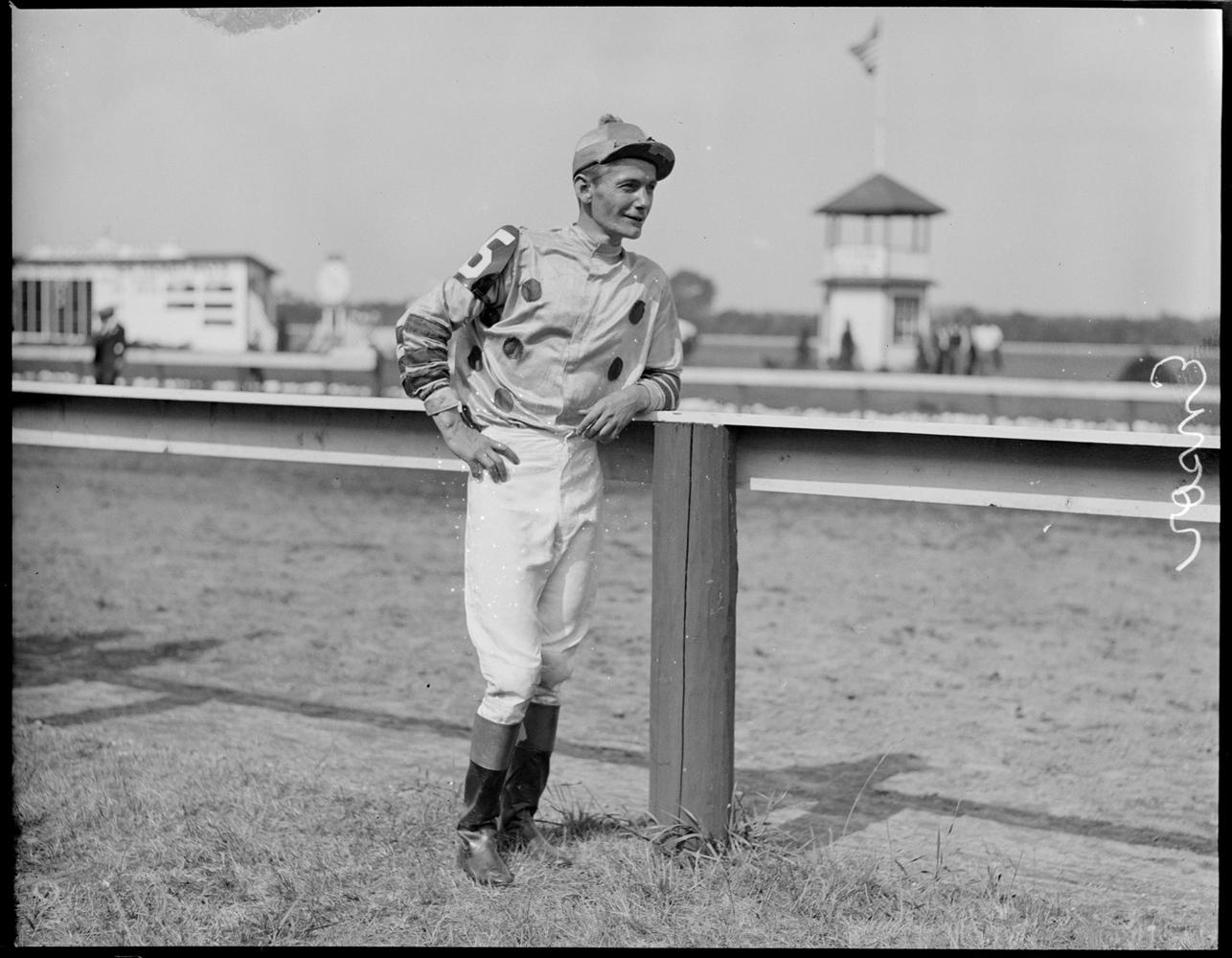 Jockey Buddy Ensor at Rockingham, 1933 (Courtesy of the Boston Public Library, Leslie Jones Collection)