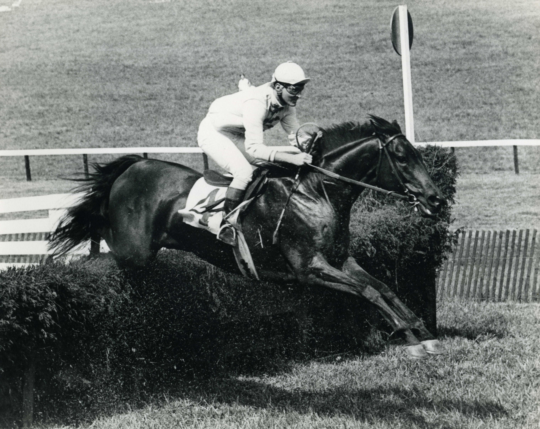Jerry Fishback aboard Leaping Frog in the Albemarle at Foxfield, September 1978 (Douglas Lees/Museum Collection)