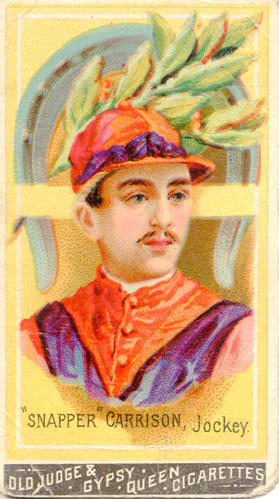 """Cigarette card for """"Snapper"""" Garrison, jockey (Museum Collection)"""