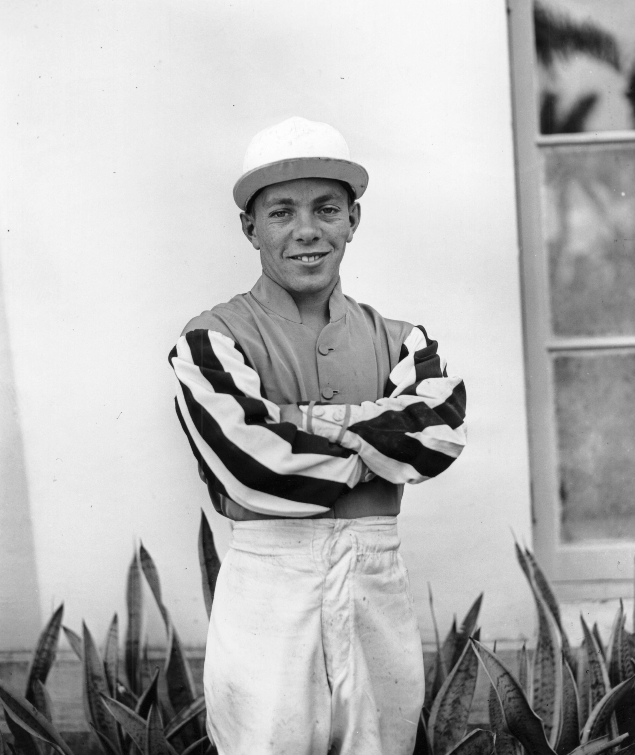 Conn McCreary at Hialeah Park, February 1941 (Keeneland Library Morgan Collection/Museum Collection)