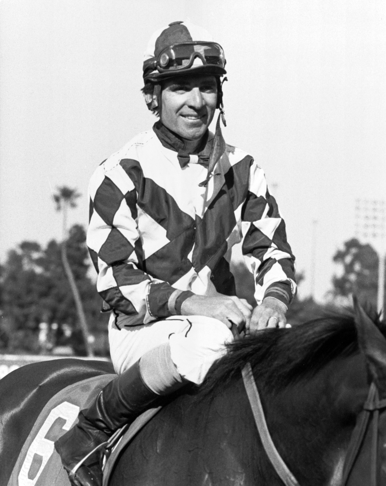 Darrel McHargue at Hollywood Park, May 1987 (Keeneland Library Thoroughbred Times Collection)