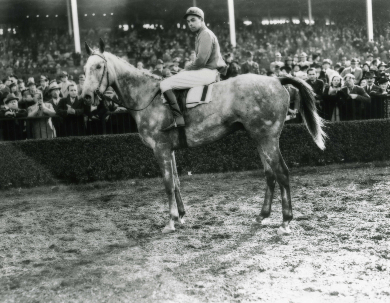 Rigan McKinney and Annibal after winning the 1938 American Grand National at Belmont Park (Keeneland Library Morgan Collection/Museum Collection)