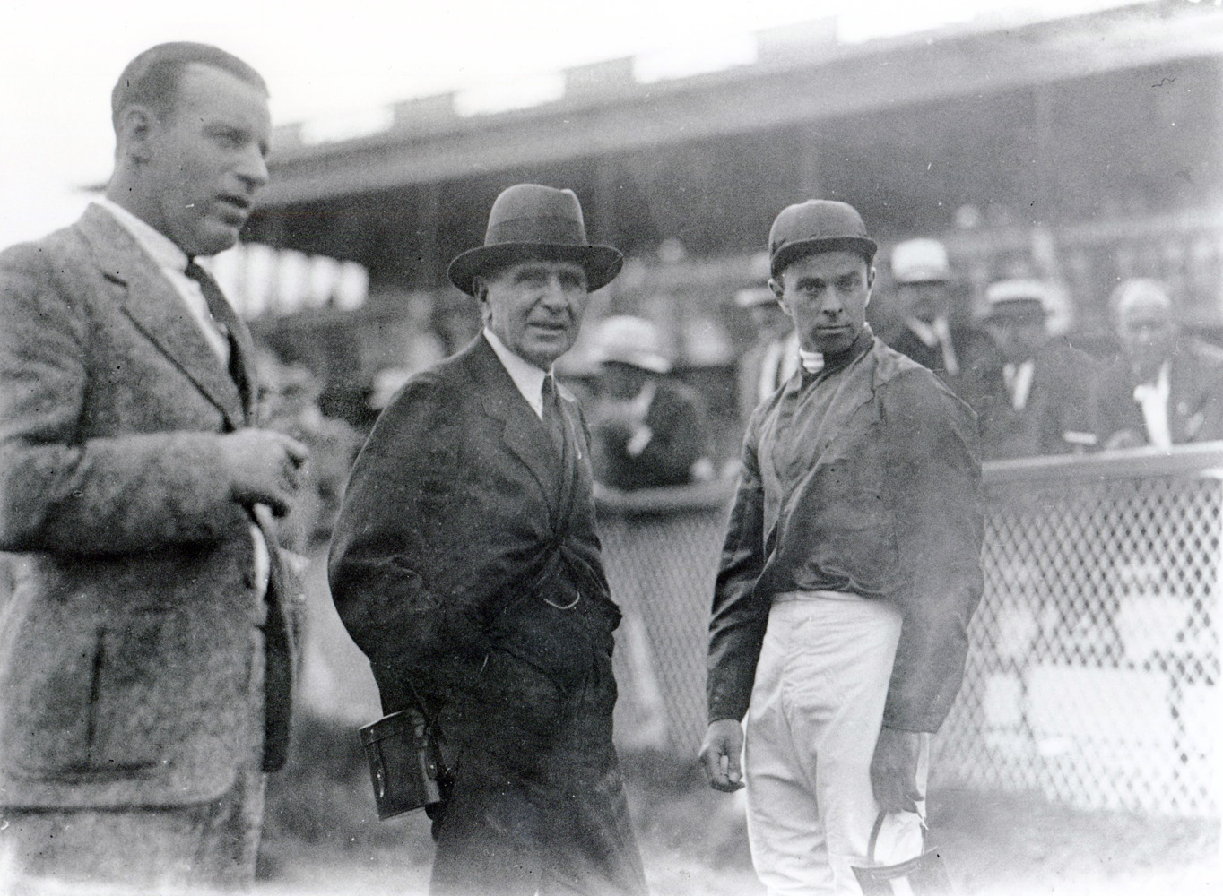 Trainer Thomas Hitchcock and jockey Rigan McKinney (Keeneland Library Cook Collection/Museum Collection)