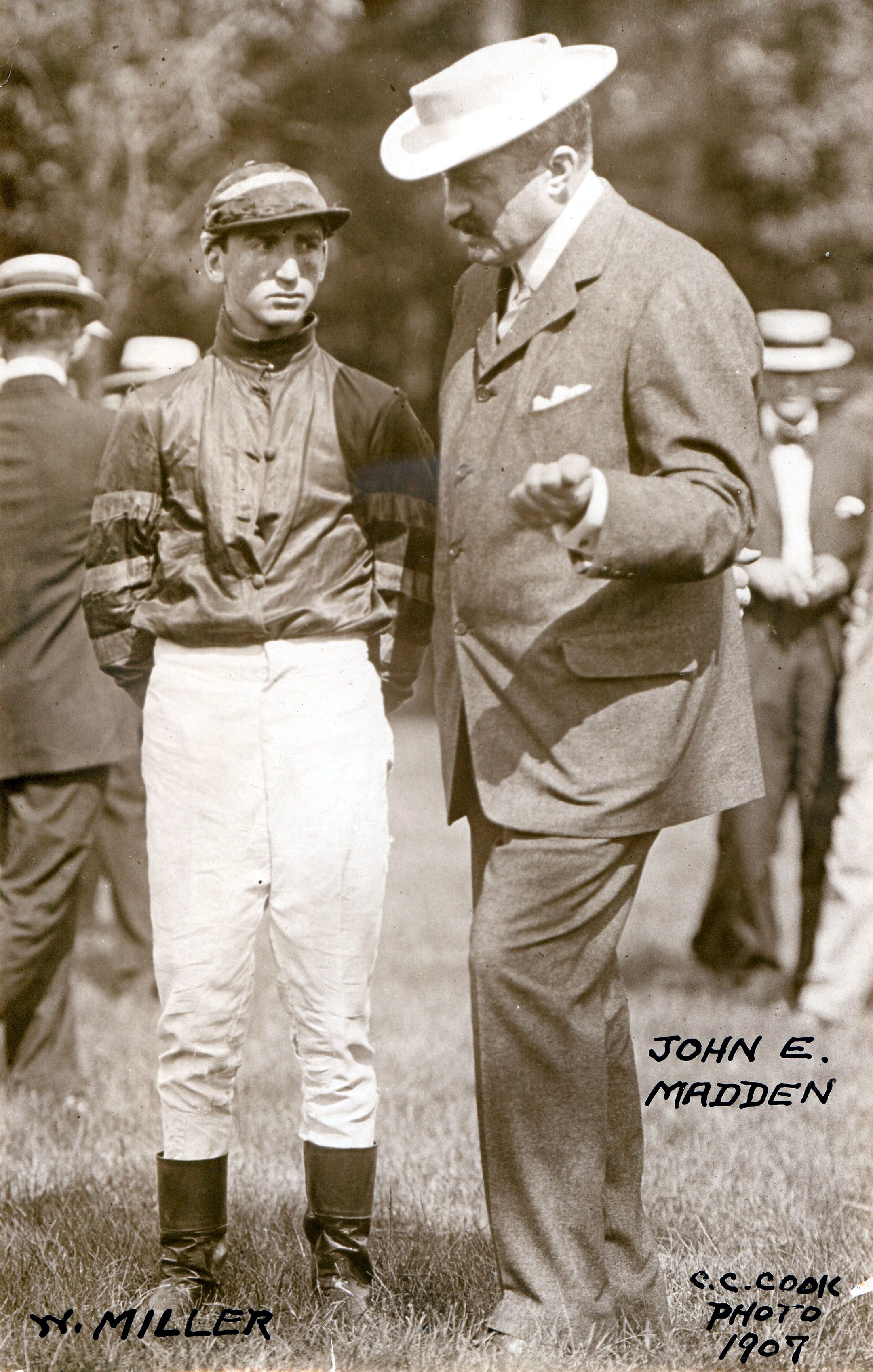 Walter Miller with trainer John E. Madden in 1907 (C. C. Cook/Museum Collection)