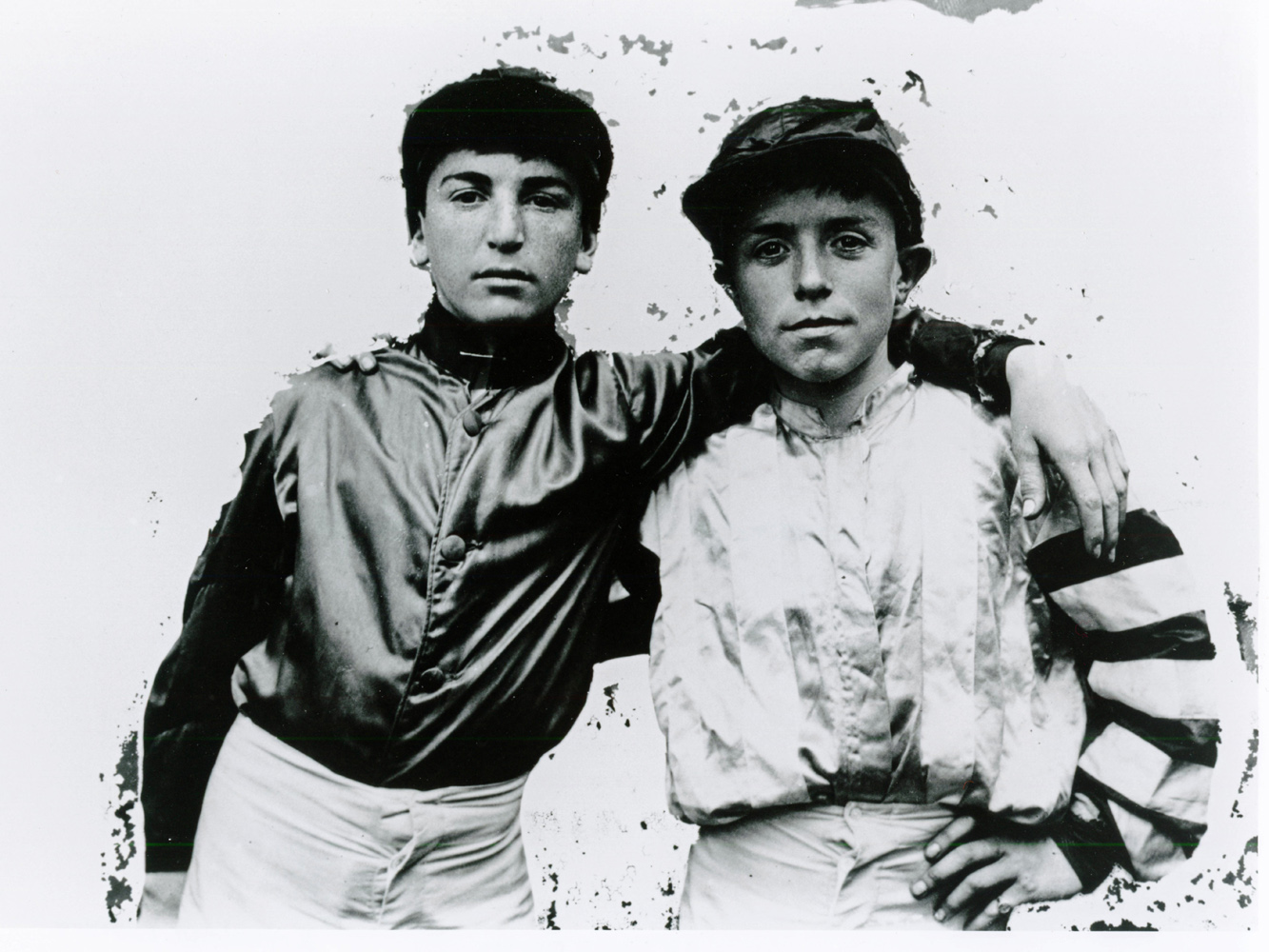 Jockeys Walter Miller and R. McDaniel in 1906 (Keeneland Library Cook Collection/Museum Collection)