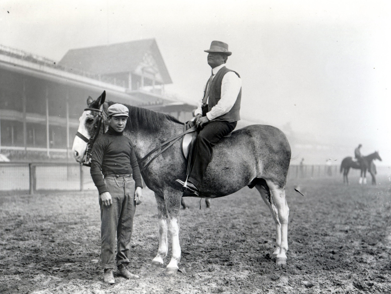 Jockey Joe Notter and trainer James Rowe, Sr. (Keeneland Library Cook Collection/Museum Collection)
