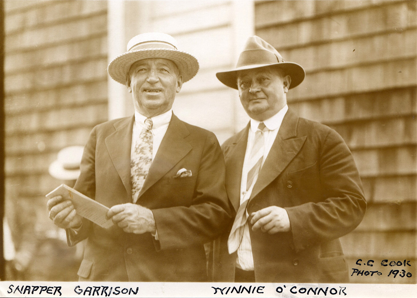 Hall of Fame jockeys Snapper Garrison and Winnie O'Connor in 1930 (C. C. Cook/Museum Collection)