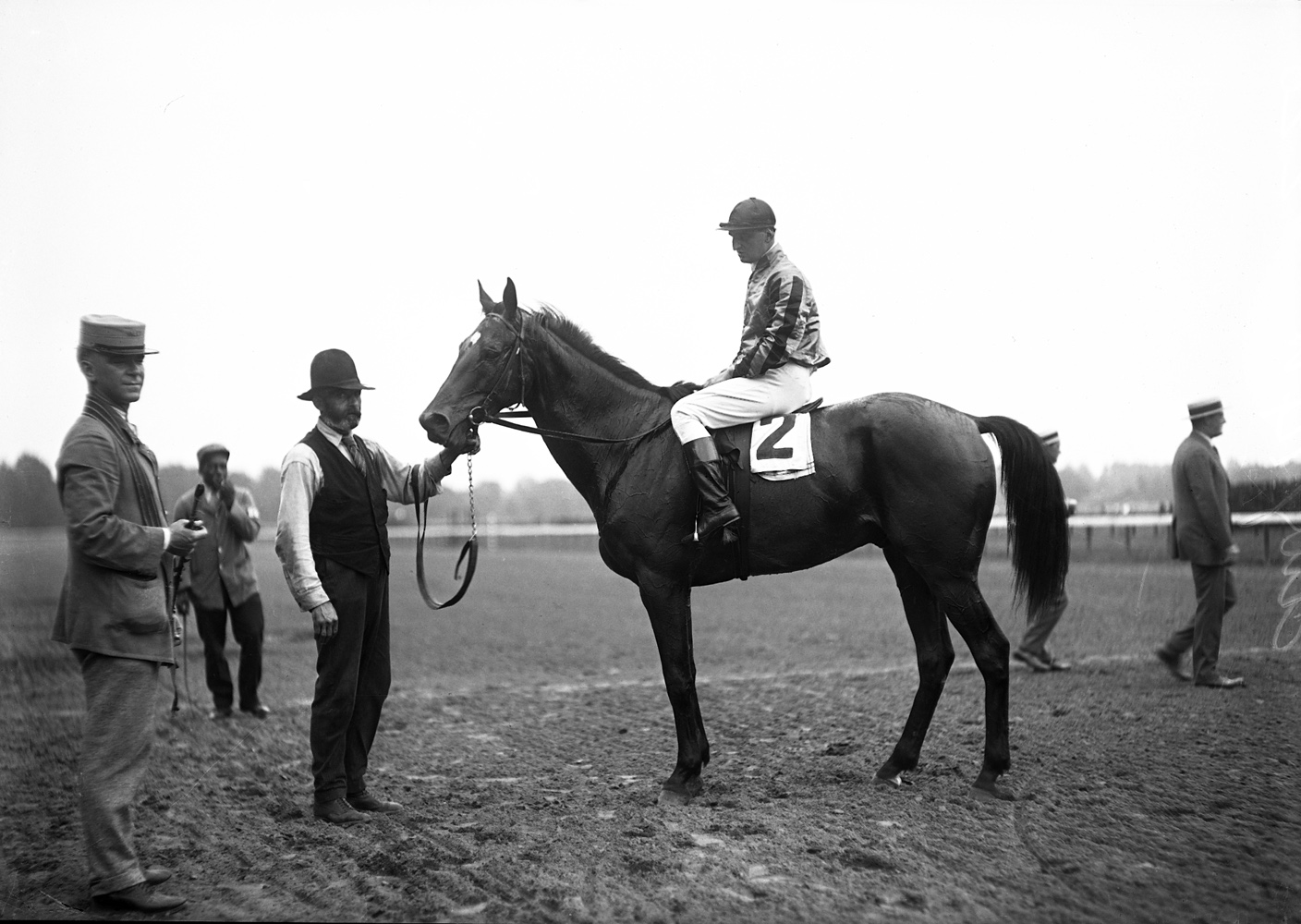 Vincent Powers on Flare (Keeneland Library Cook Collection)