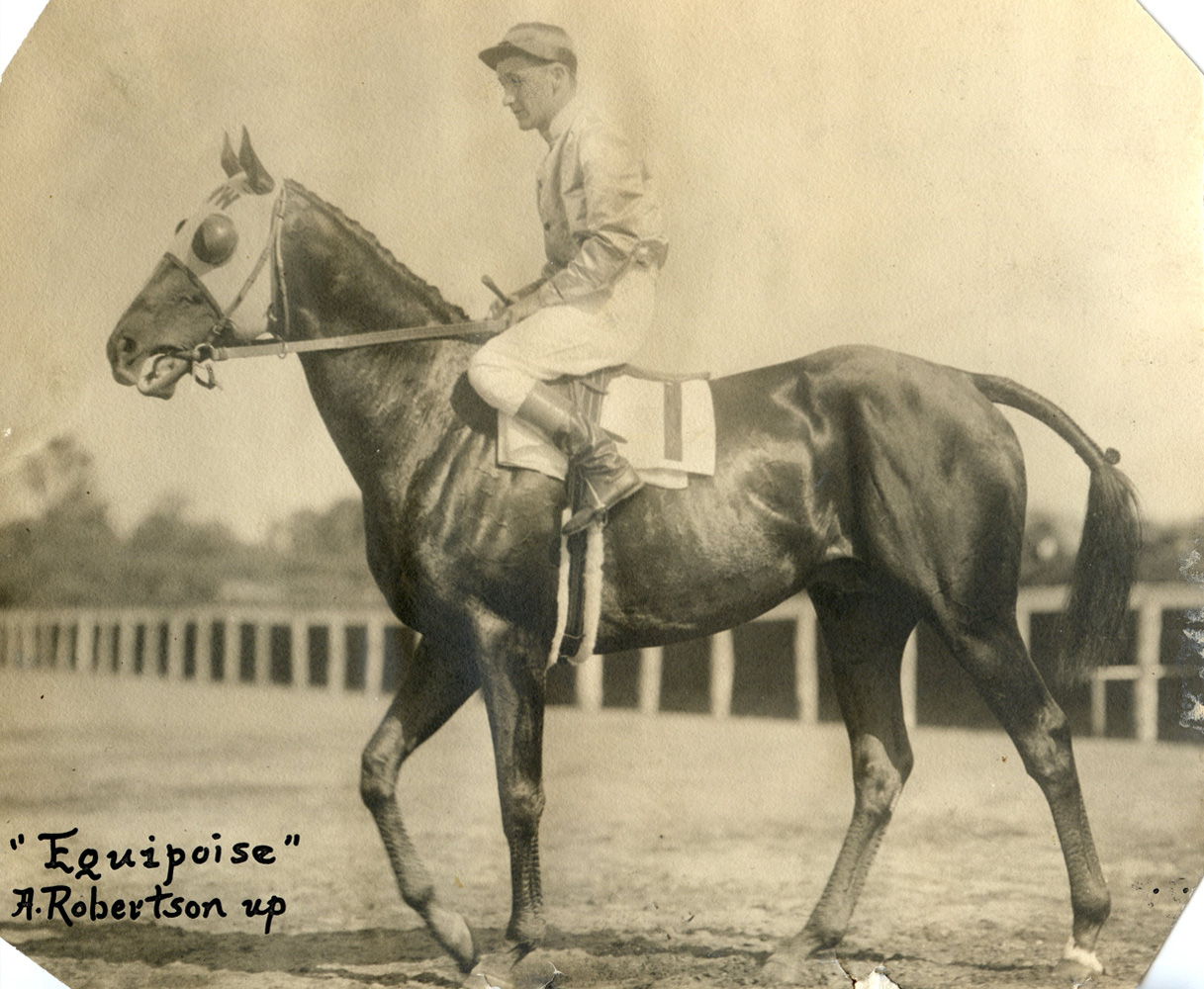 Alfred Robertson and Equipoise (C. C. Cook/Museum Collection)