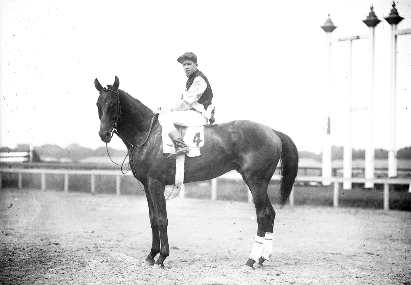 Carroll Shilling and Dalmatian (Keeneland Library Cook Collection)