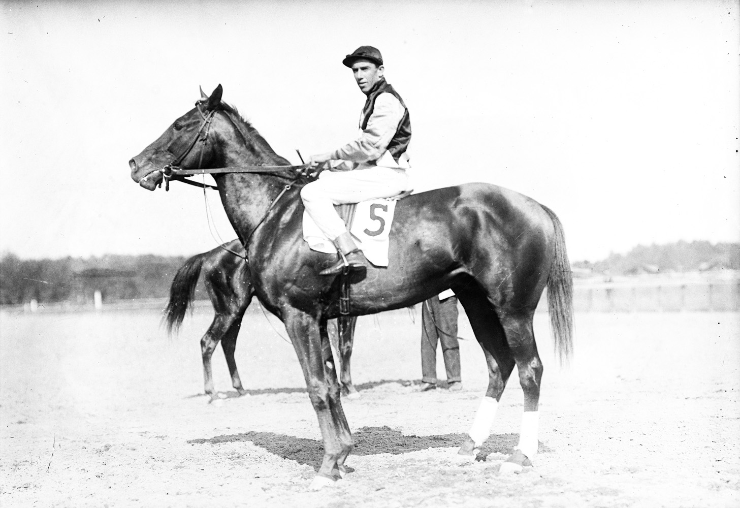 Carroll Shilling and Novelty at Saratoga, August 1910 (Keeneland Library Cook Collection)