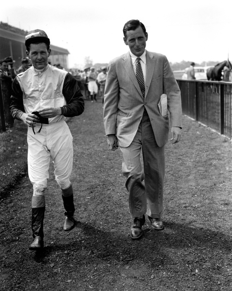 Brothers Alfred P. Smithwick and D. Michael Smithwick in May 1956 (Keeneland Library Morgan Collection/Museum Collection)
