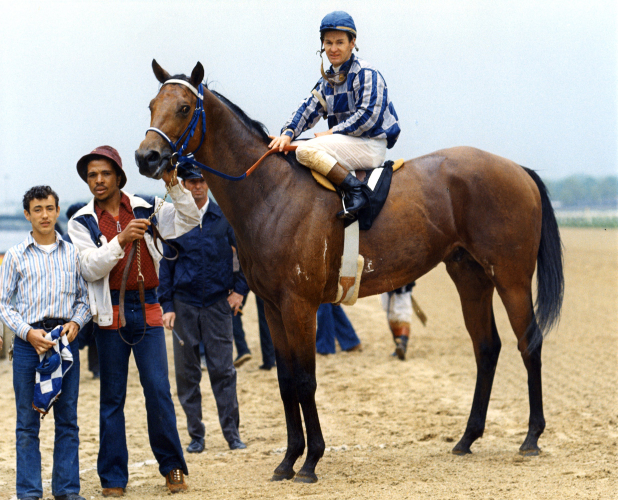 Ron Turcotte and Riva Ridge in 1972 (Bob Coglianese/Museum Collection)