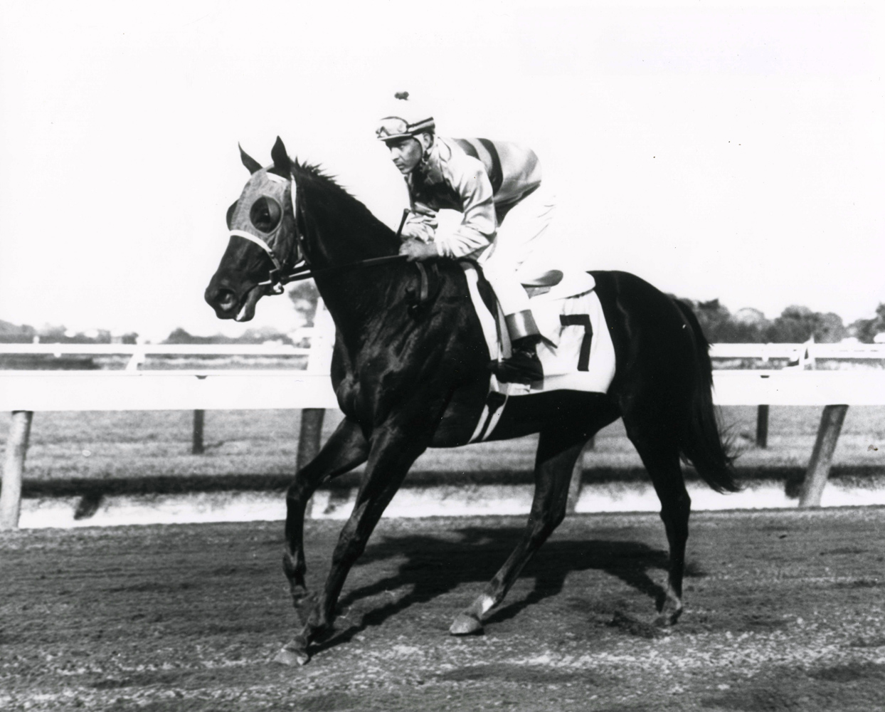 Milo Valenzuela and Affectionately after winning the 1962 Sorority Stakes at Monmouth Park (The BloodHorse/Museum Collection)