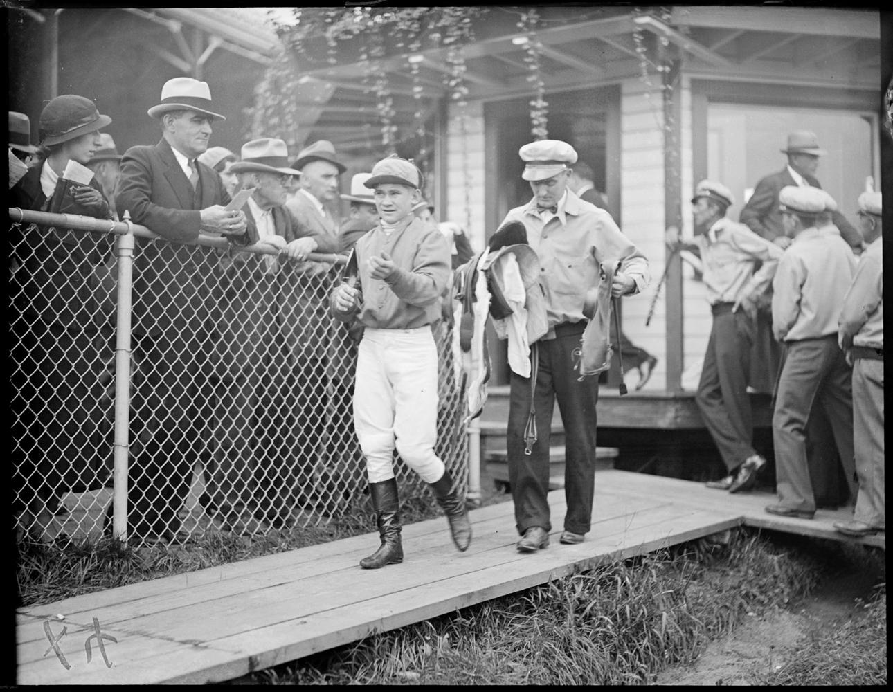 Jack Westrope at Rockingham, September 1933 (Courtesy of the Boston Public Library, Leslie Jones Collection)