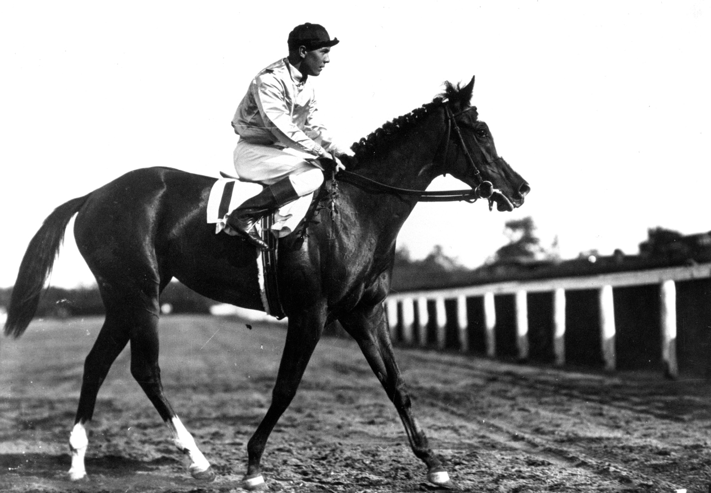 Raymond Workman and Top Flight (Keeneland Library Cook Collection/Museum Collection)