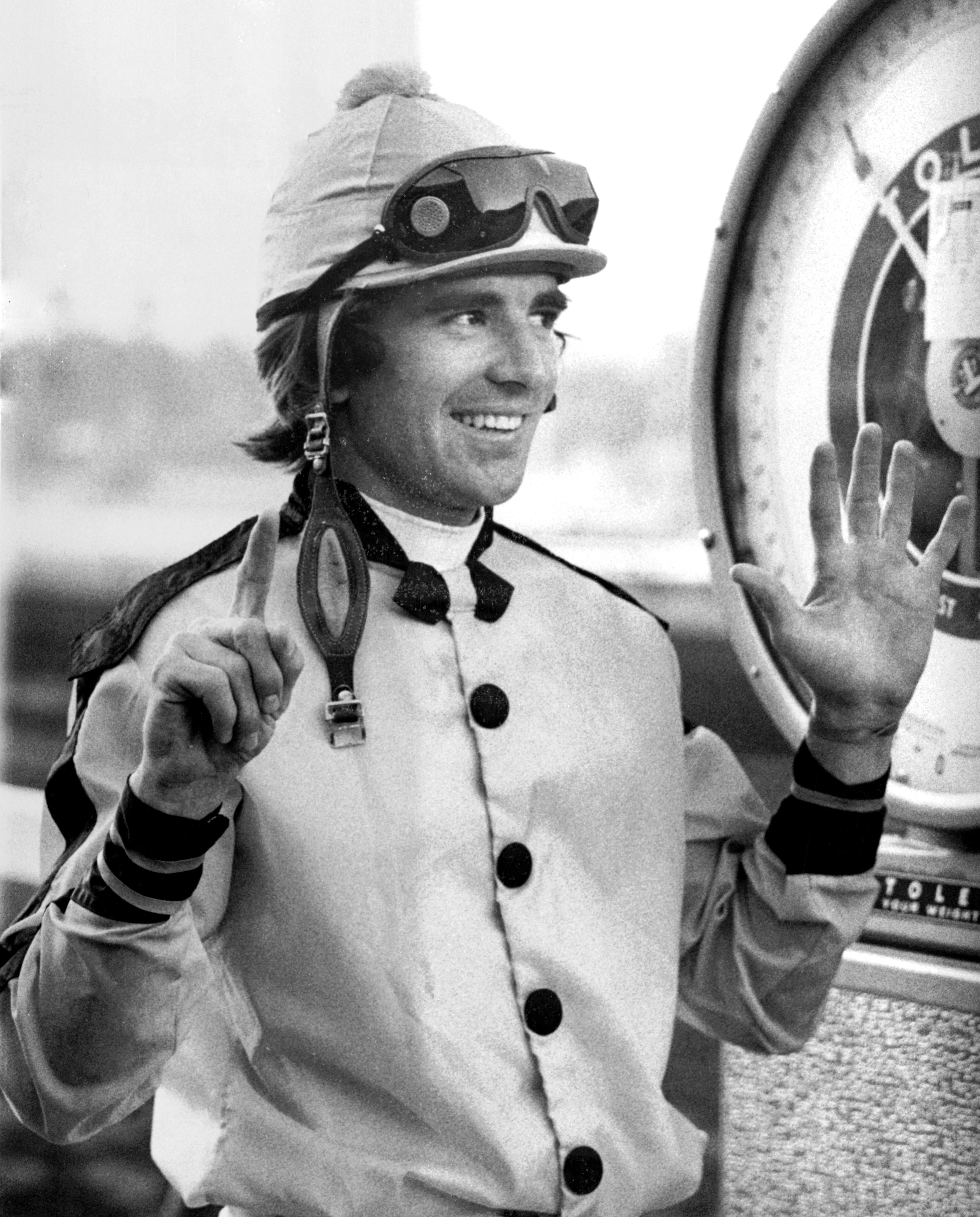 Darrel McHargue at Santa Anita (Keeneland Library Thoroughbred Times Collection)