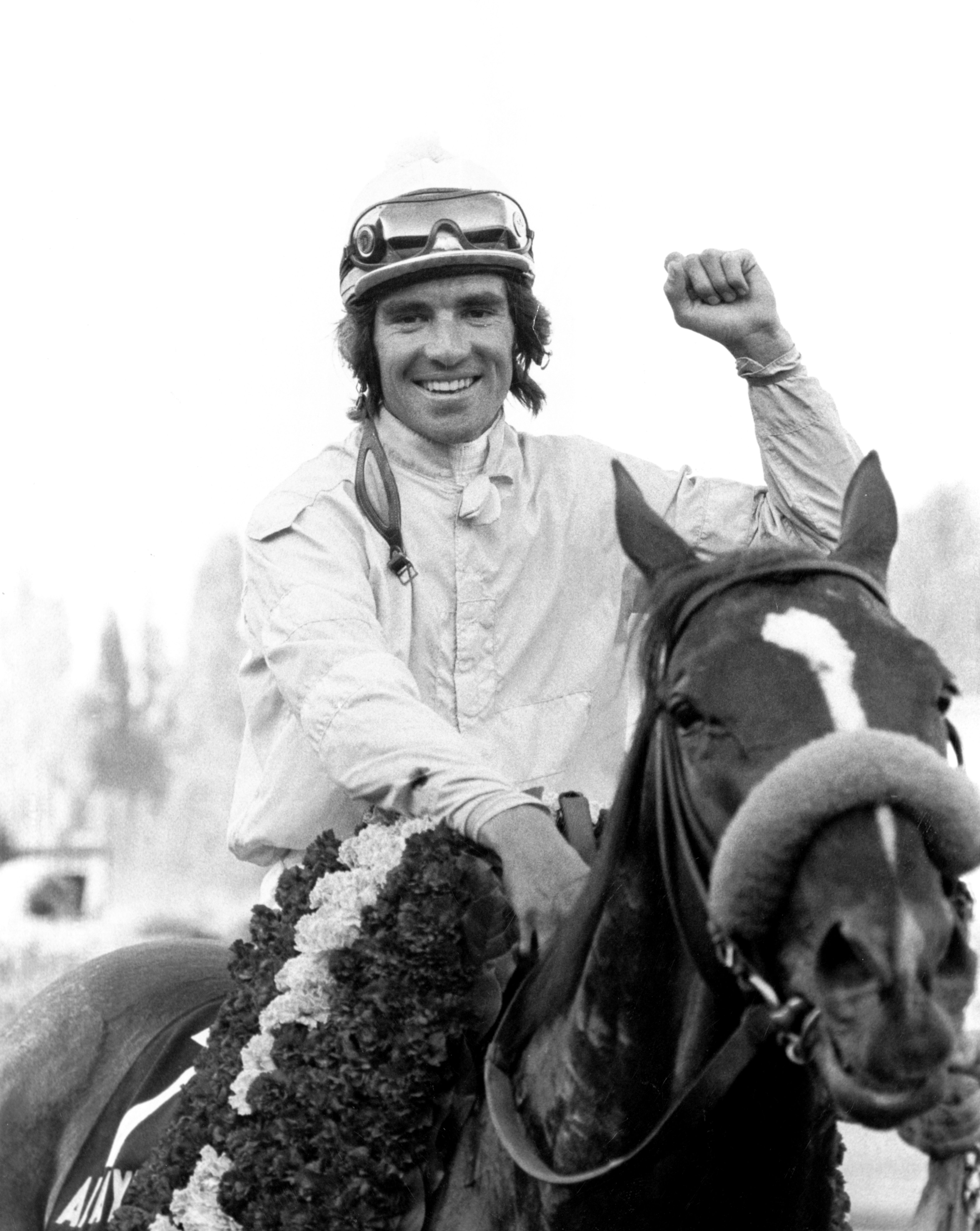 Darrel McHargue and Always Gallant after winning the 1979 Longacres Mile (Keeneland Library Thoroughbred Times Collection)