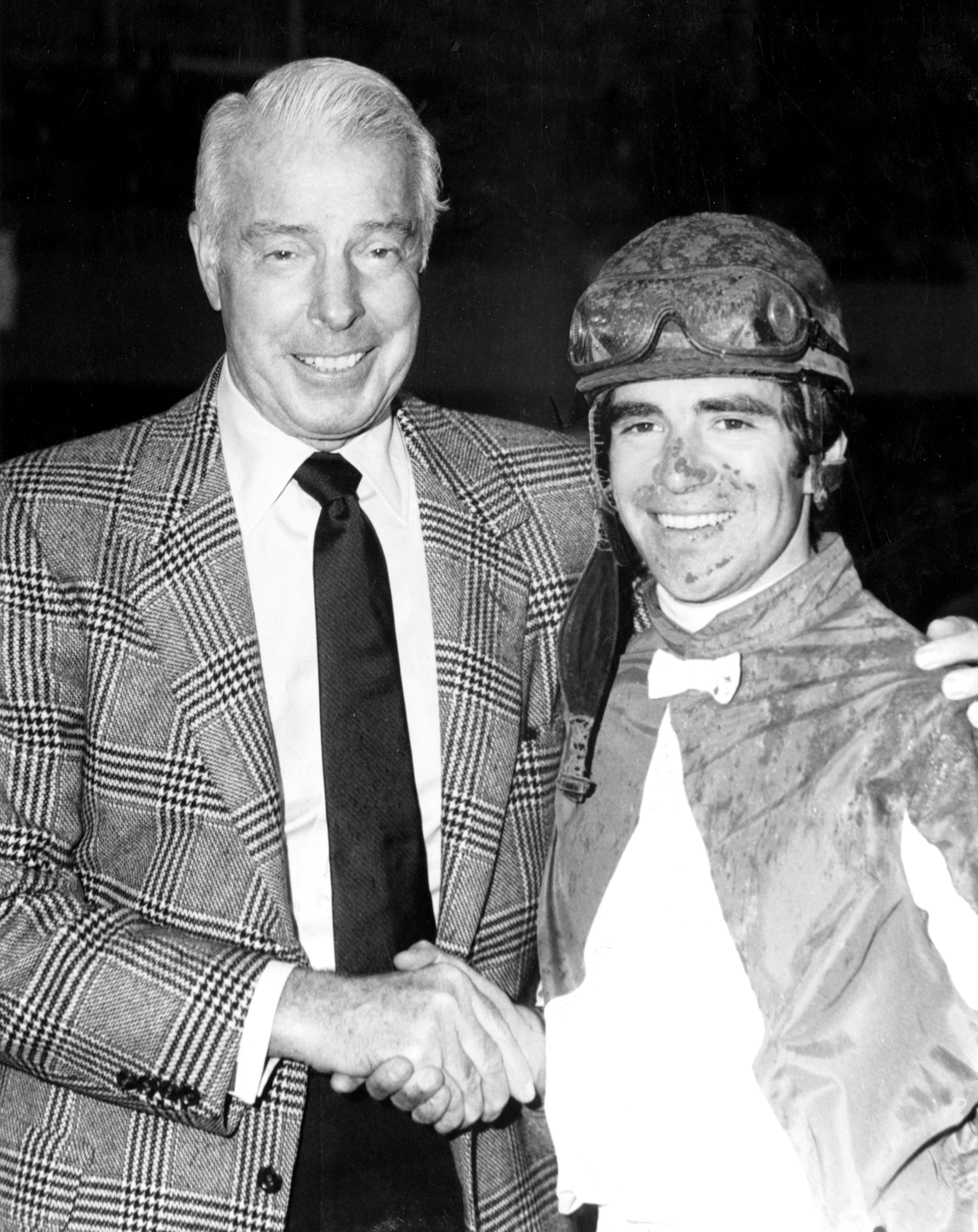 Darrel McHargue with Joe DiMaggio (Keeneland Library Thoroughbred Times Collection)