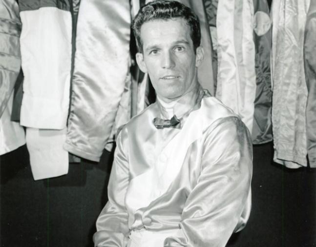 Sam Boulmetis, Jr. at Belmont Park, June 1955 (Keeneland Library Morgan Collection/Museum Collection)