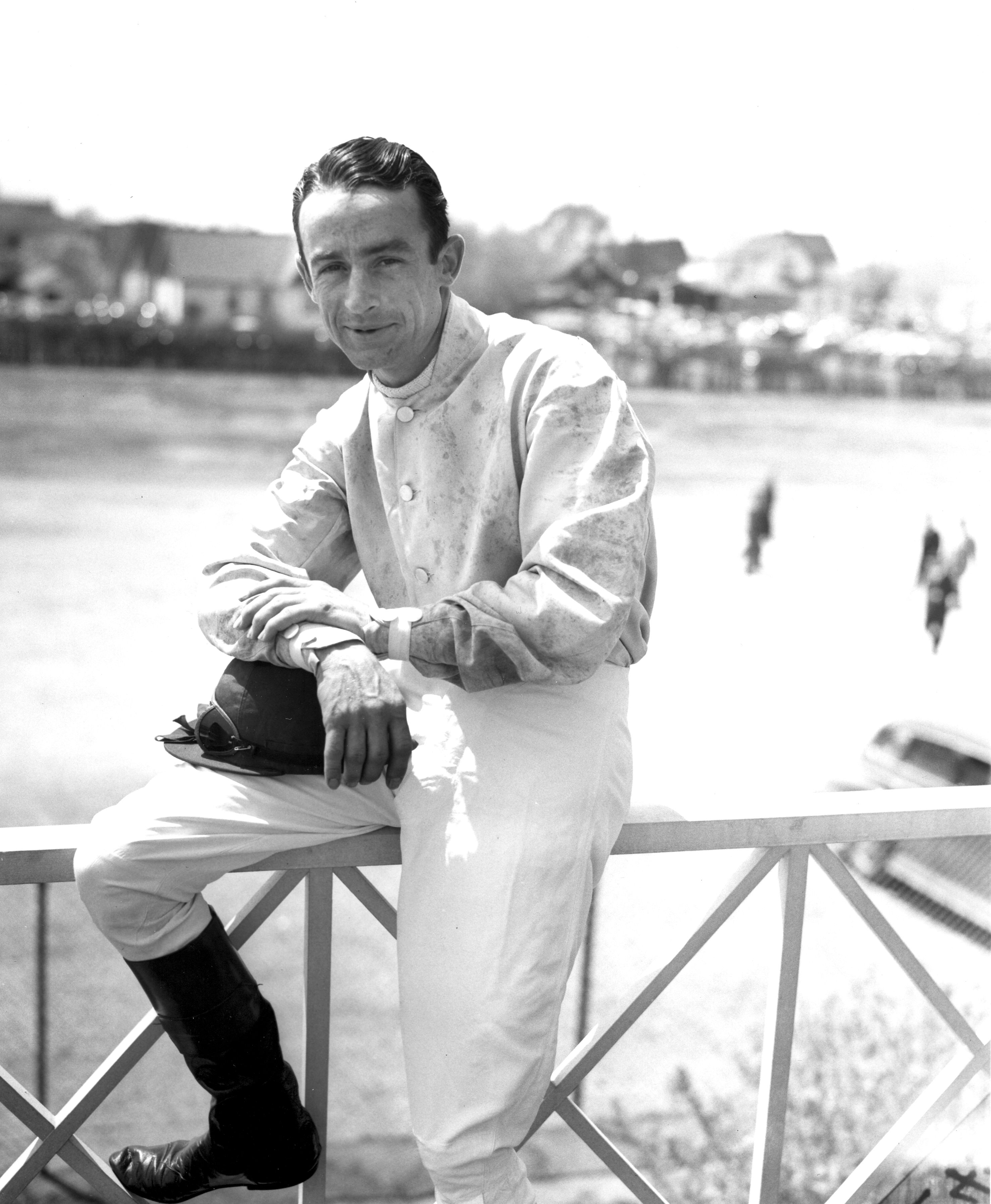 Ted Atkinson at Jamaica Racetrack, May 1944 (Keeneland Library Morgan Collection/Museum Collection)