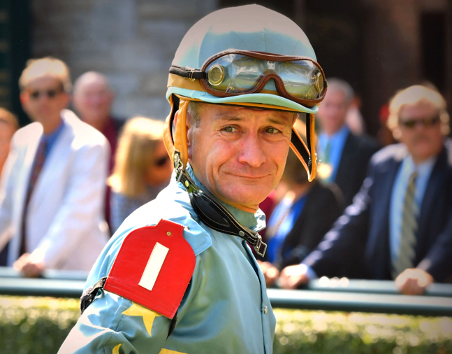 Calvin Borel at Keeneland, October 2017 (Brien Bouyea)