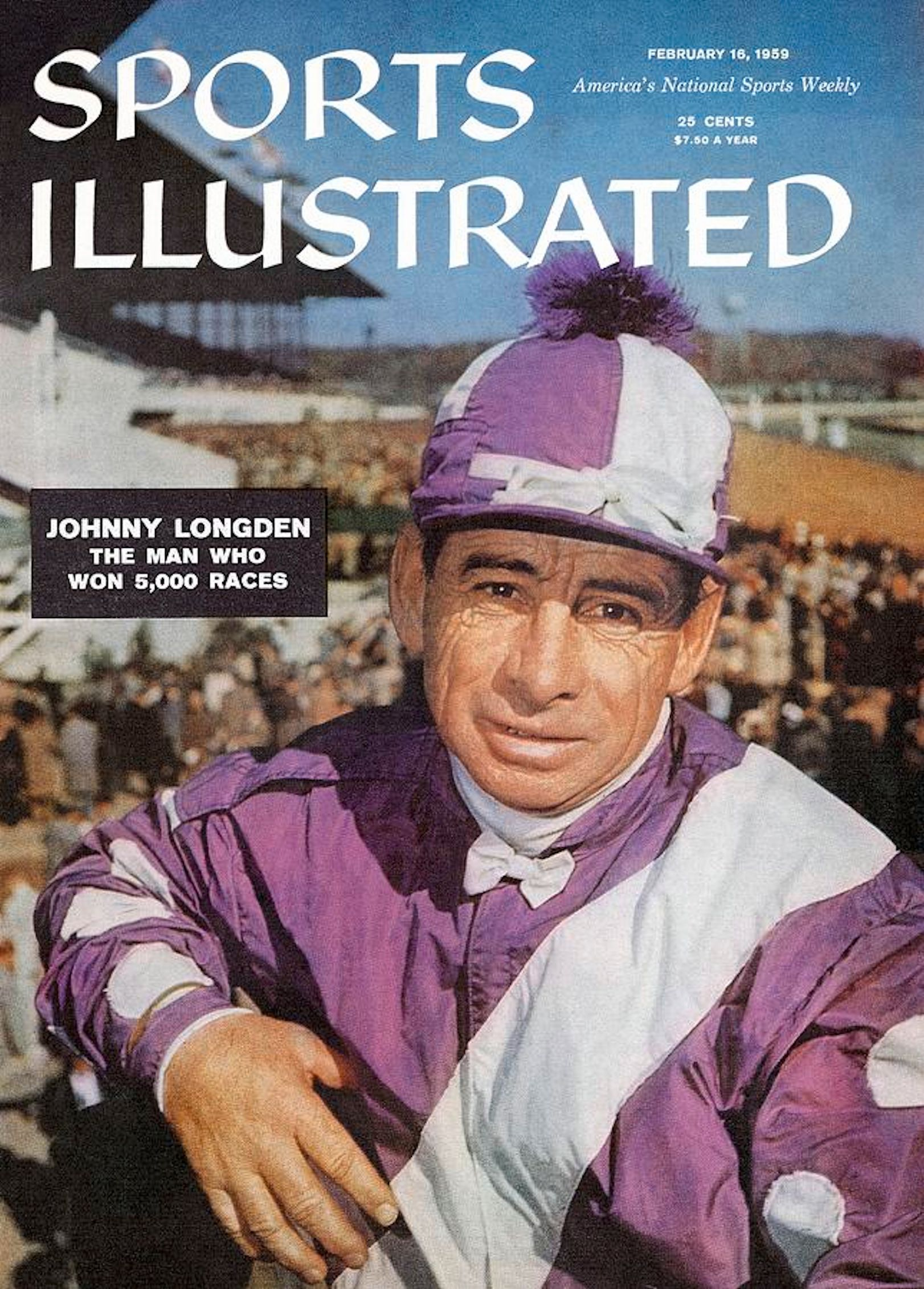 "Johnny Longden on the cover of ""Sports Illustrated"" in 1959 (Sports Illustrated)"