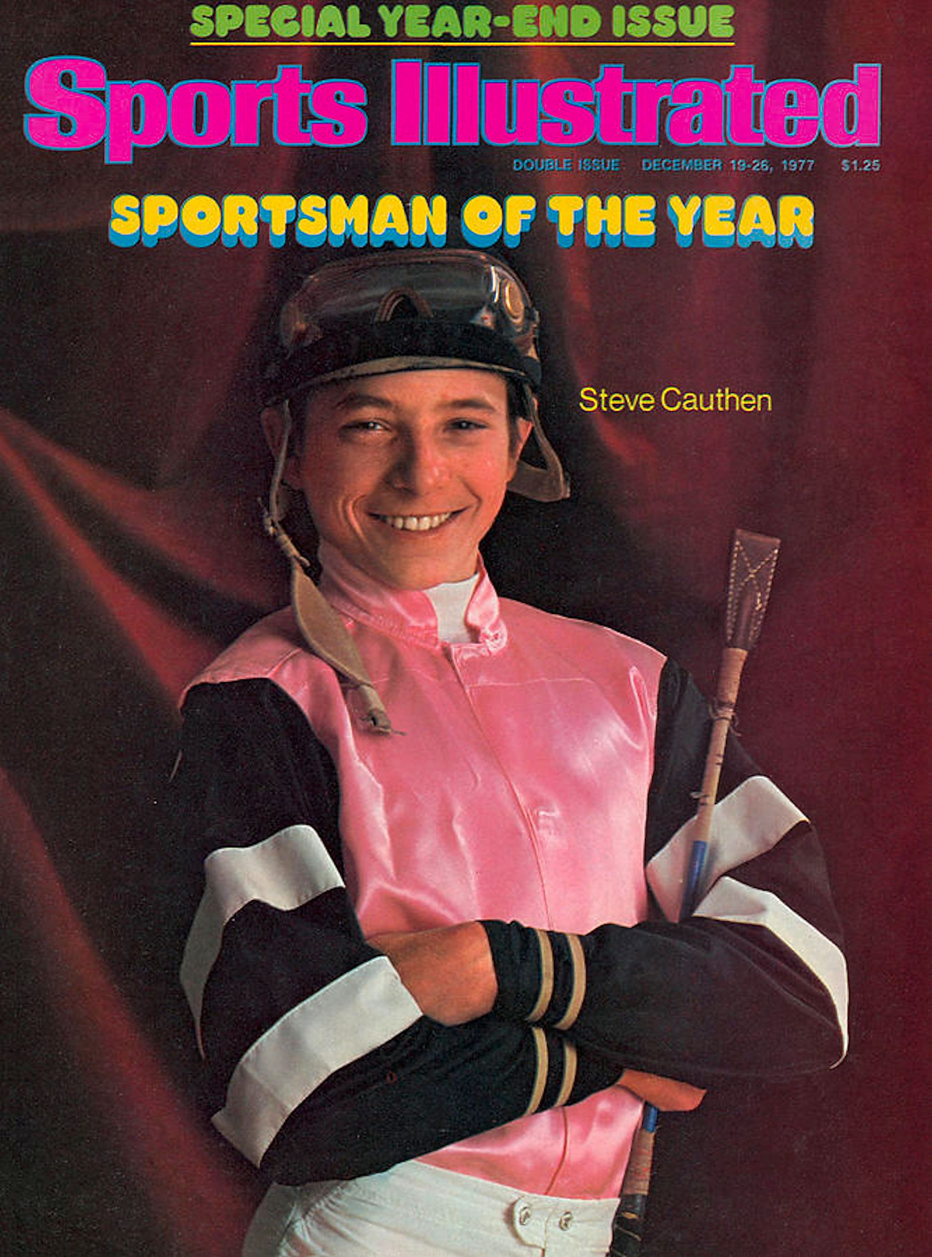 "Steve Cauthen on the cover of ""Sports Illustrated"" in 1977 (Sports Illustrated)"