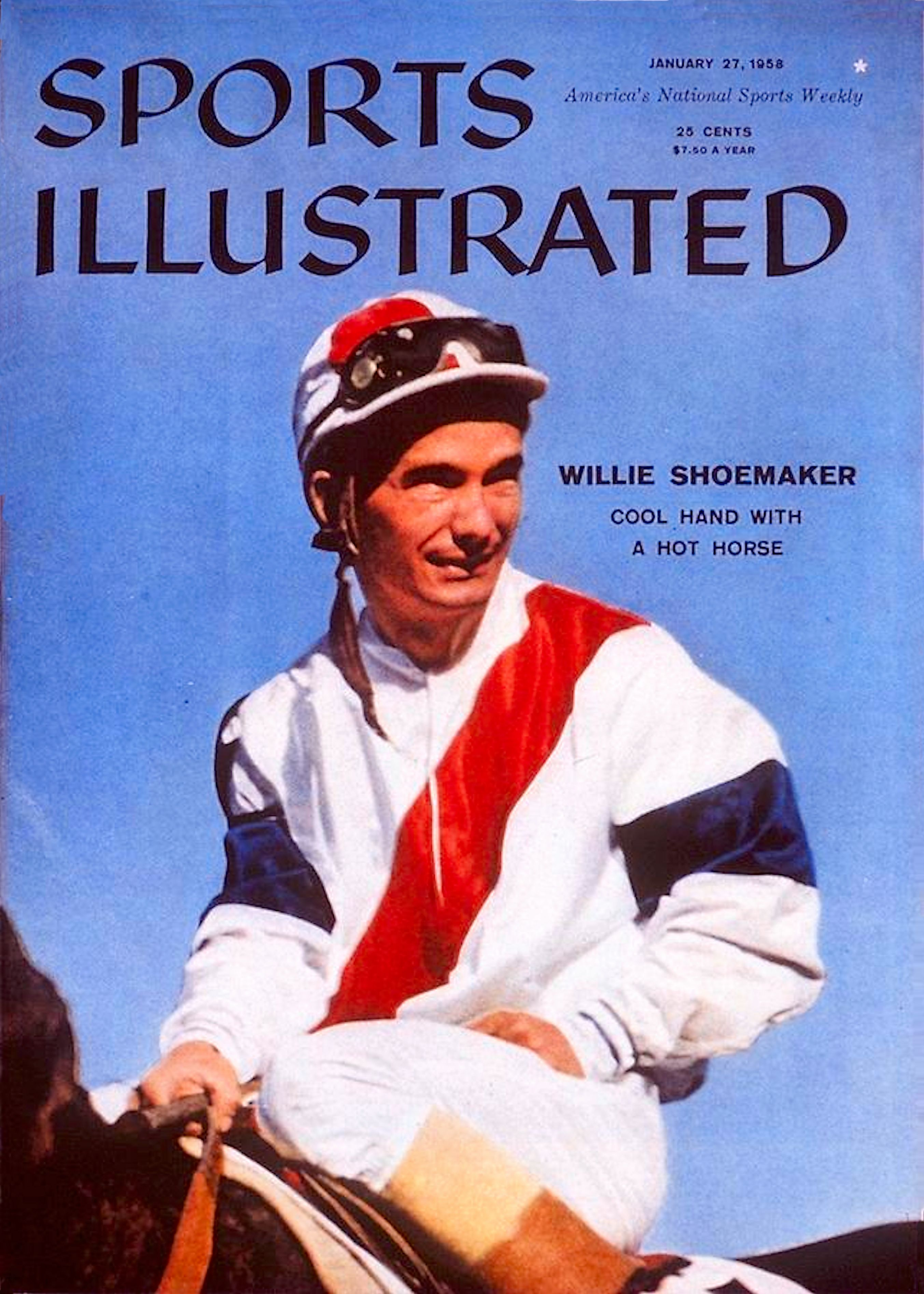 """Bill Shoemaker on the cover of """"Sports Illustrated"""" in 1958 (Sports Illustrated)"""