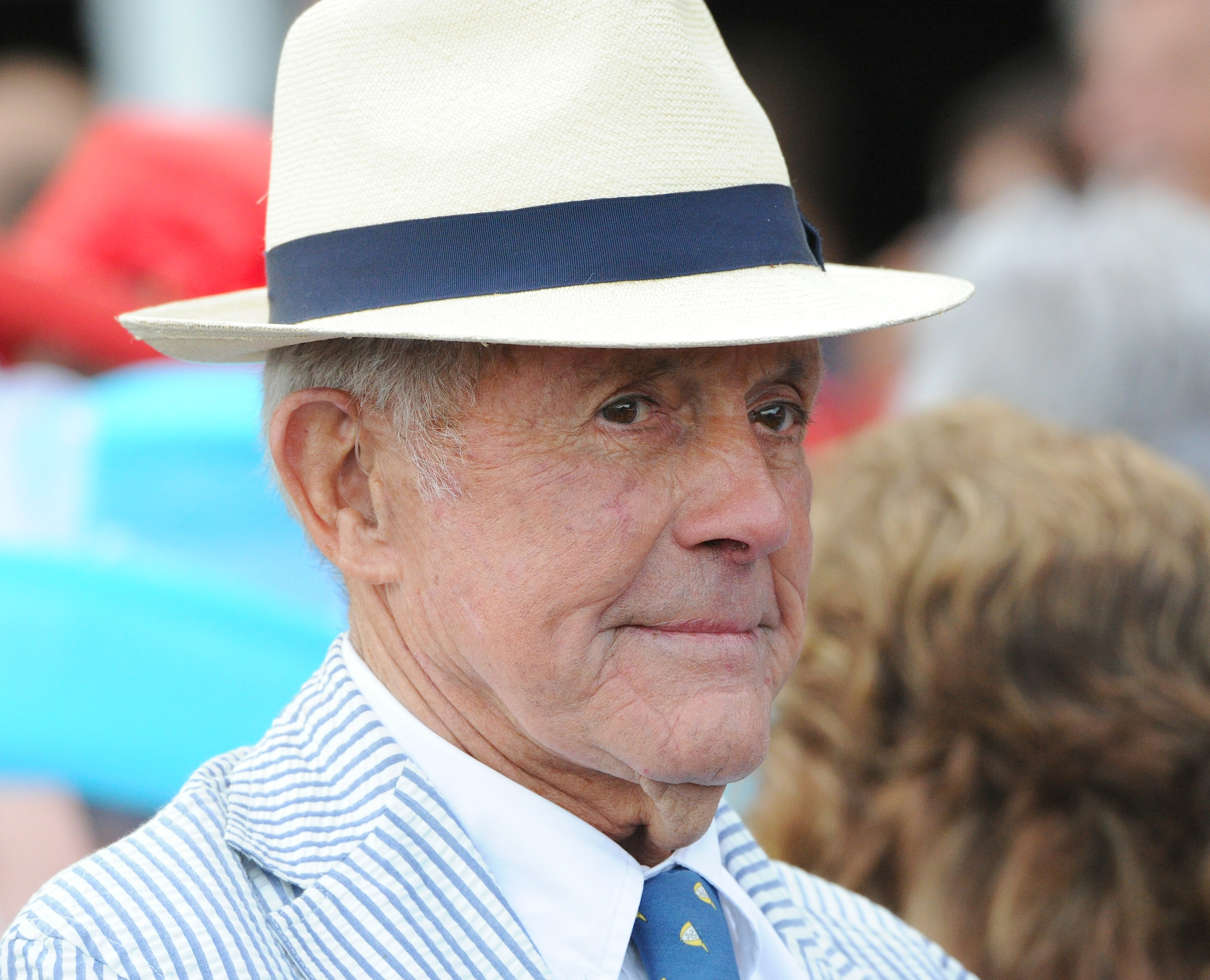 Cot Campbell on Jim Dandy Day at Saratoga, July 2013 (Bob Mayberger)
