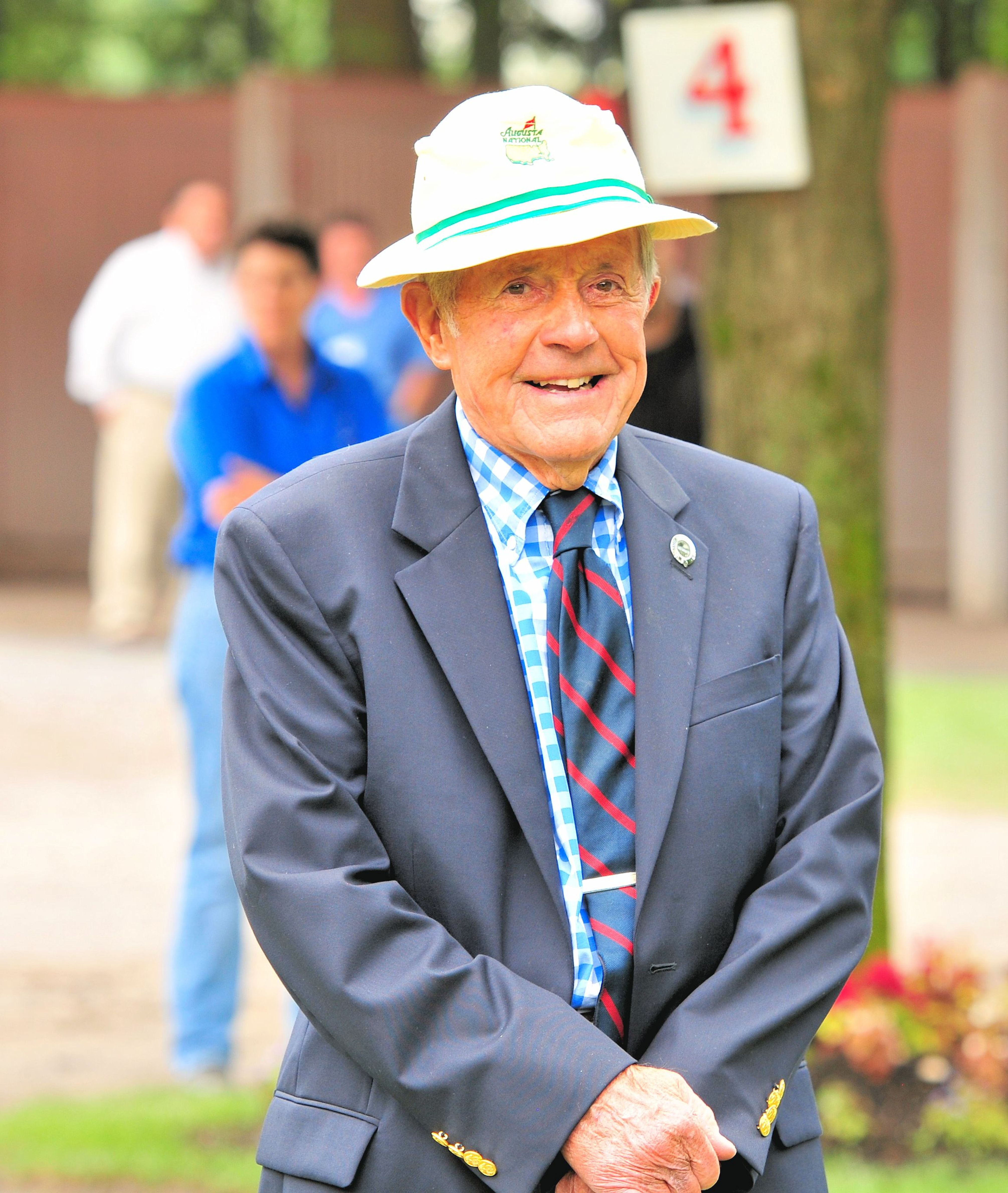 Cot Cambell in the paddock at Saratoga Race Course, September 2013 (Brien Bouyea)