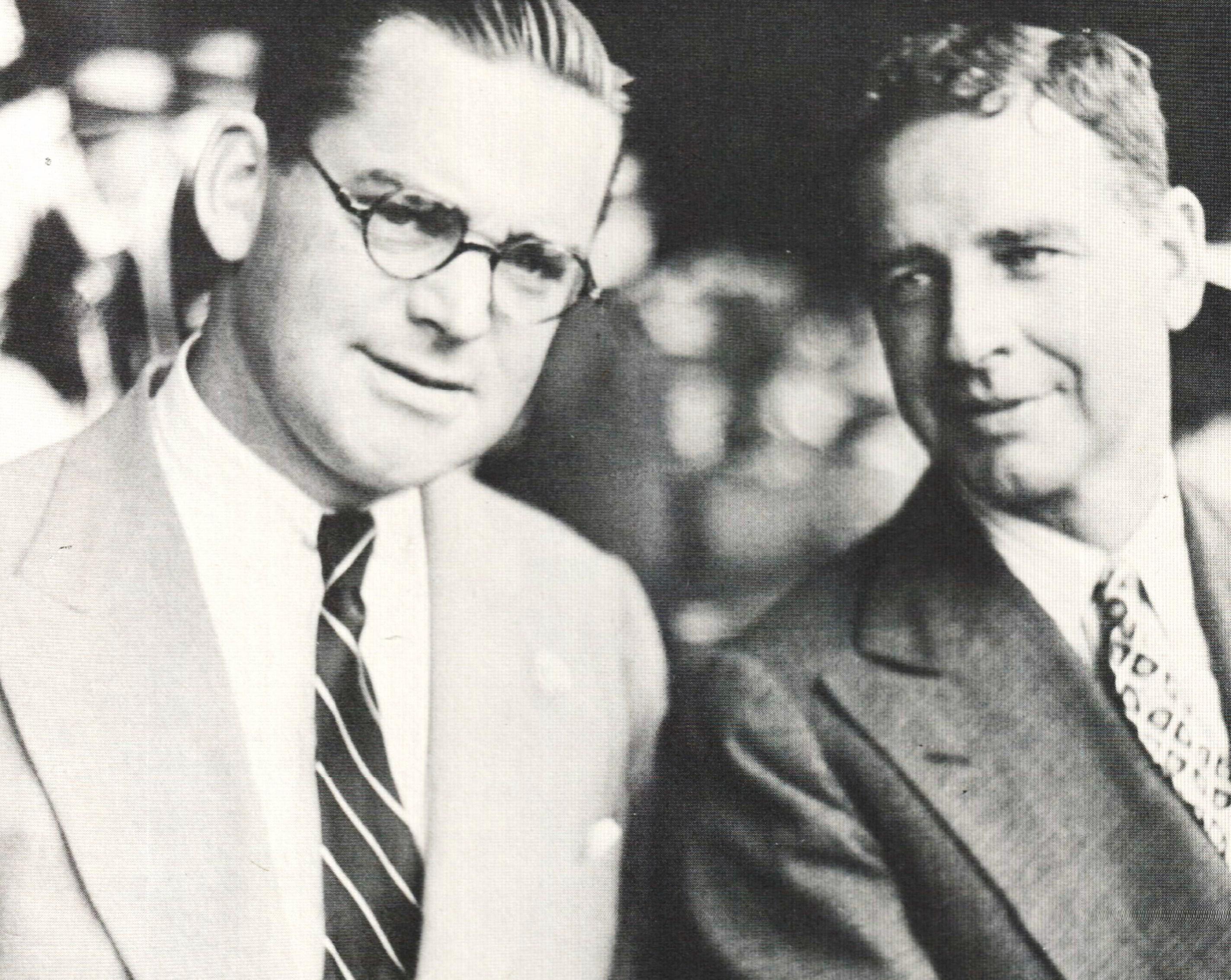 John Hay Whitney, left, and C. V. Whitney (Courtesy of Ken Grayson)