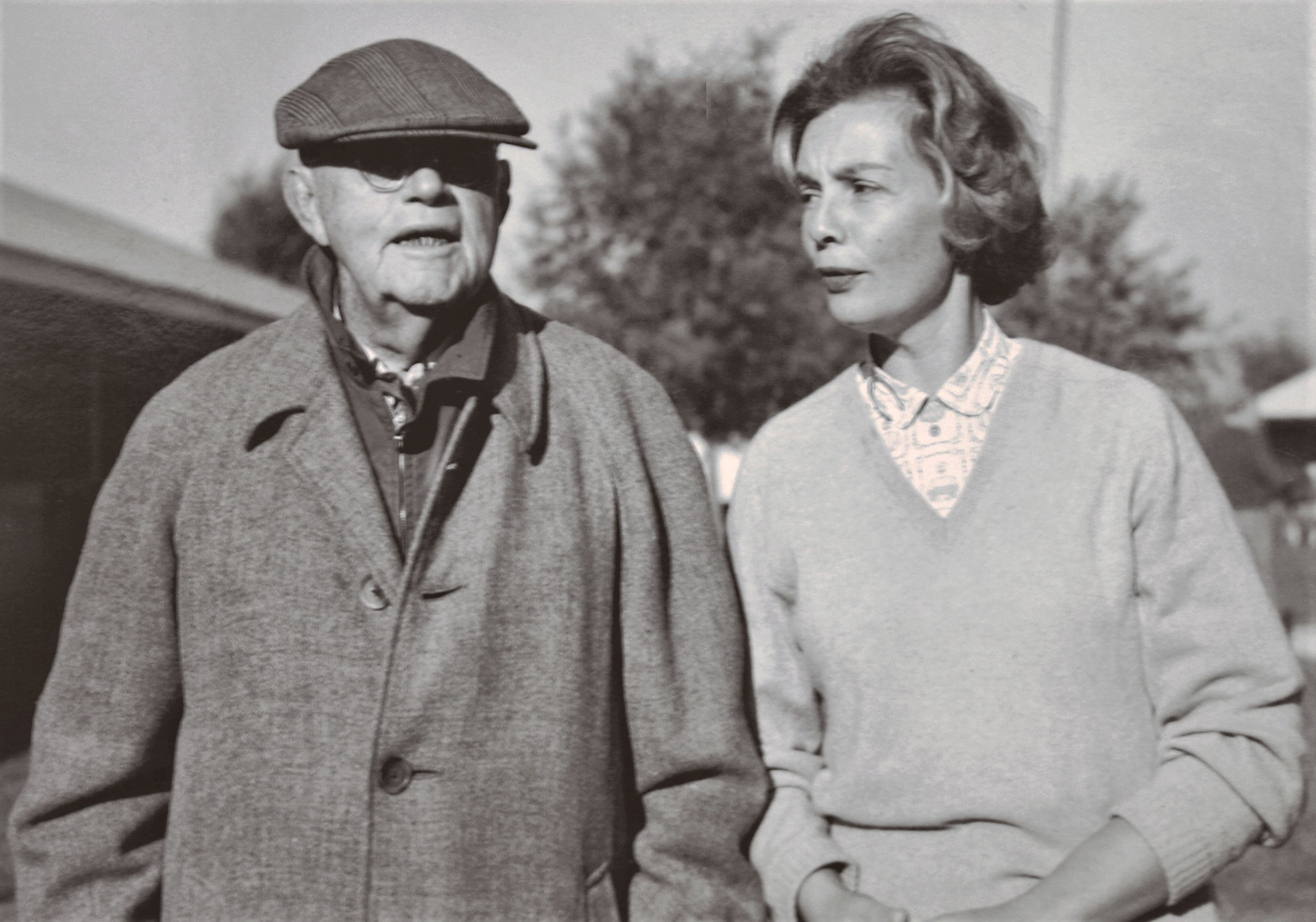 Alice Headley Chandler with her father, Hal Price Headley (Keeneland Association)