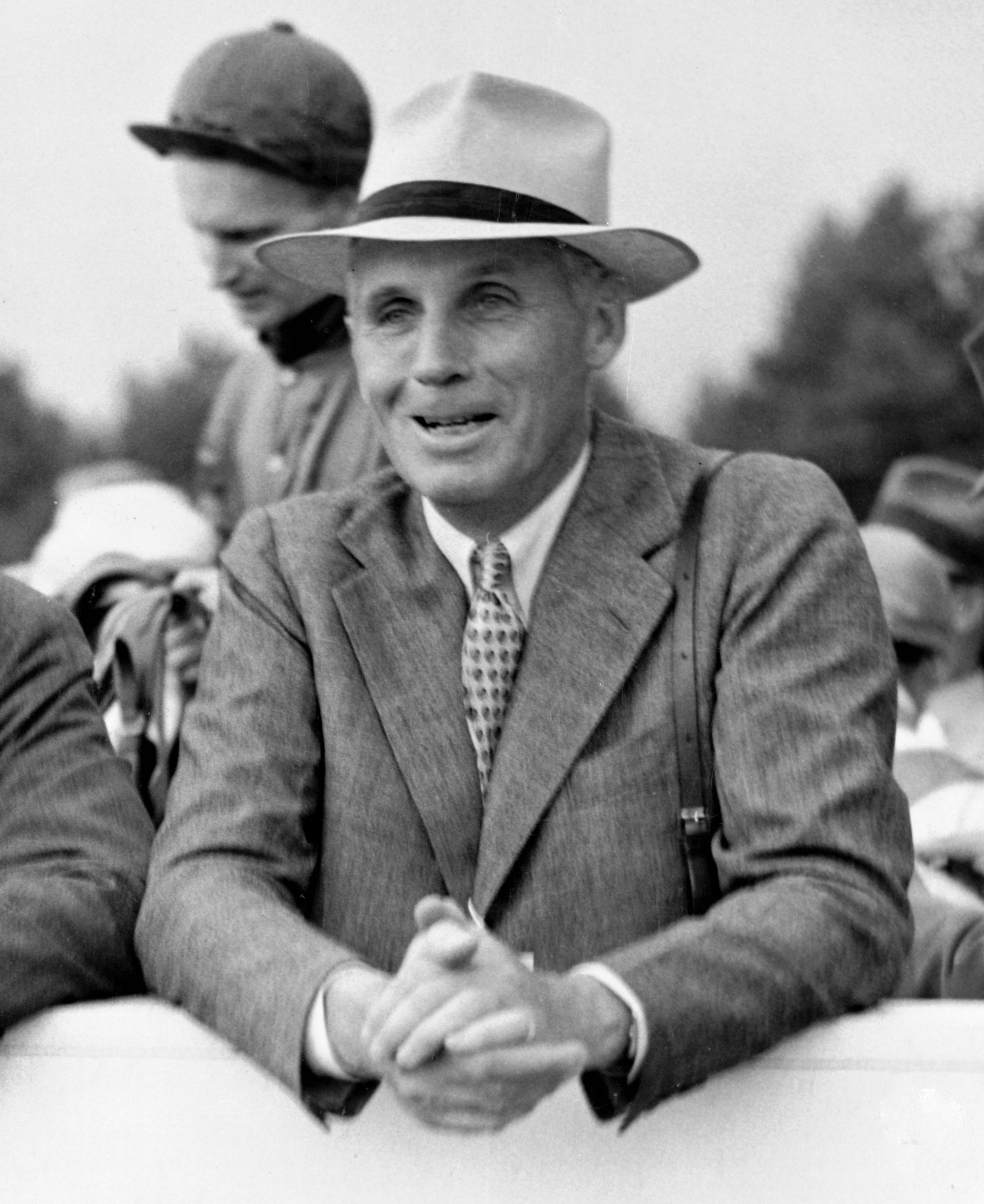 George D. Widener, Jr at the White March Races, September 1941 (Keeneland Library Morgan Collection)