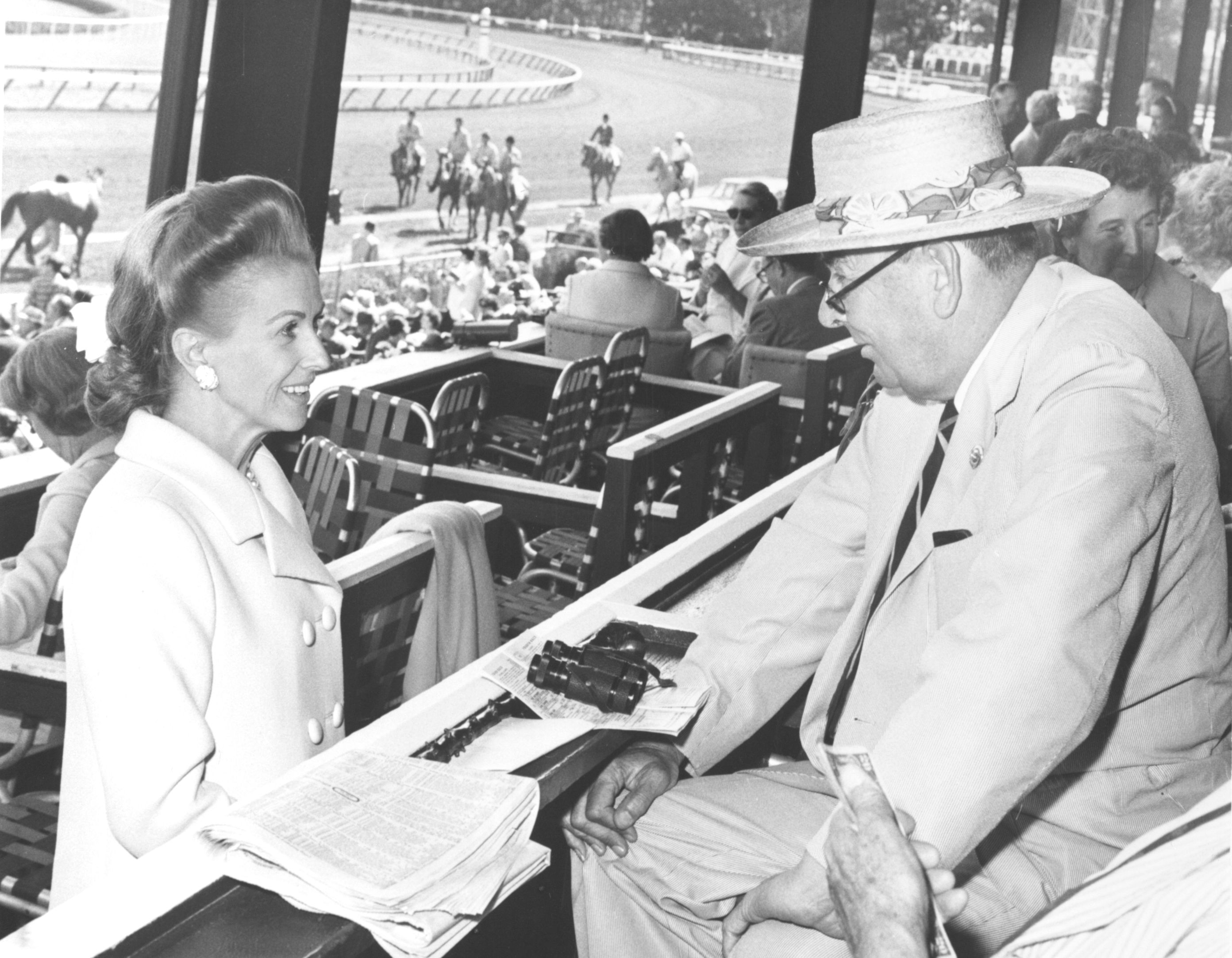 Marylou Whitney and Joseph Roebling at Saratoga (Keeneland Library Morgan Collection)