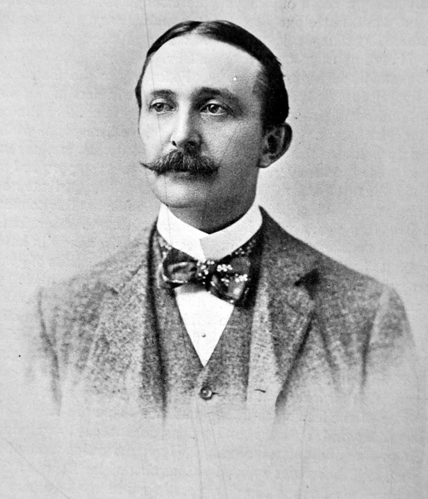 """Photograph of August Belmont II from """"The American Turf"""" (Museum Collection)"""
