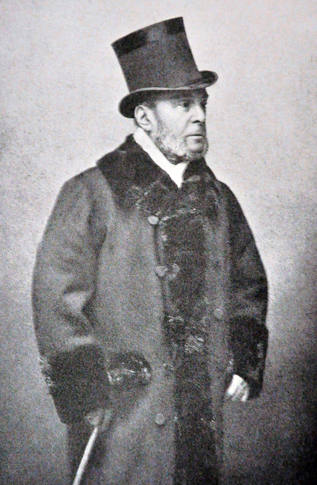 """Photograph of August Belmont I from """"The American Turf"""" (Museum Collection)"""