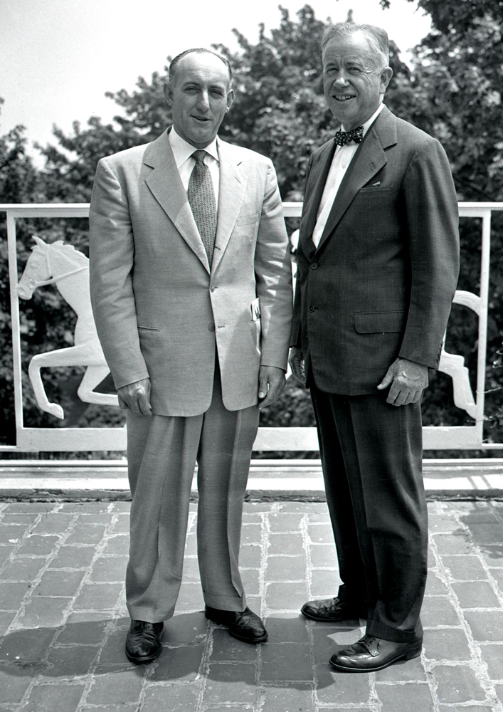 J. A. Hayes and Christopher Chenery (Keeneland Library Morgan Collection)