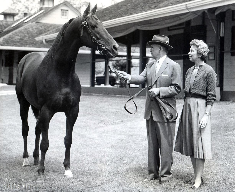 John Galbreath and Swaps at Darby Dan Farm (Skeet Meadors/Museum Collection)