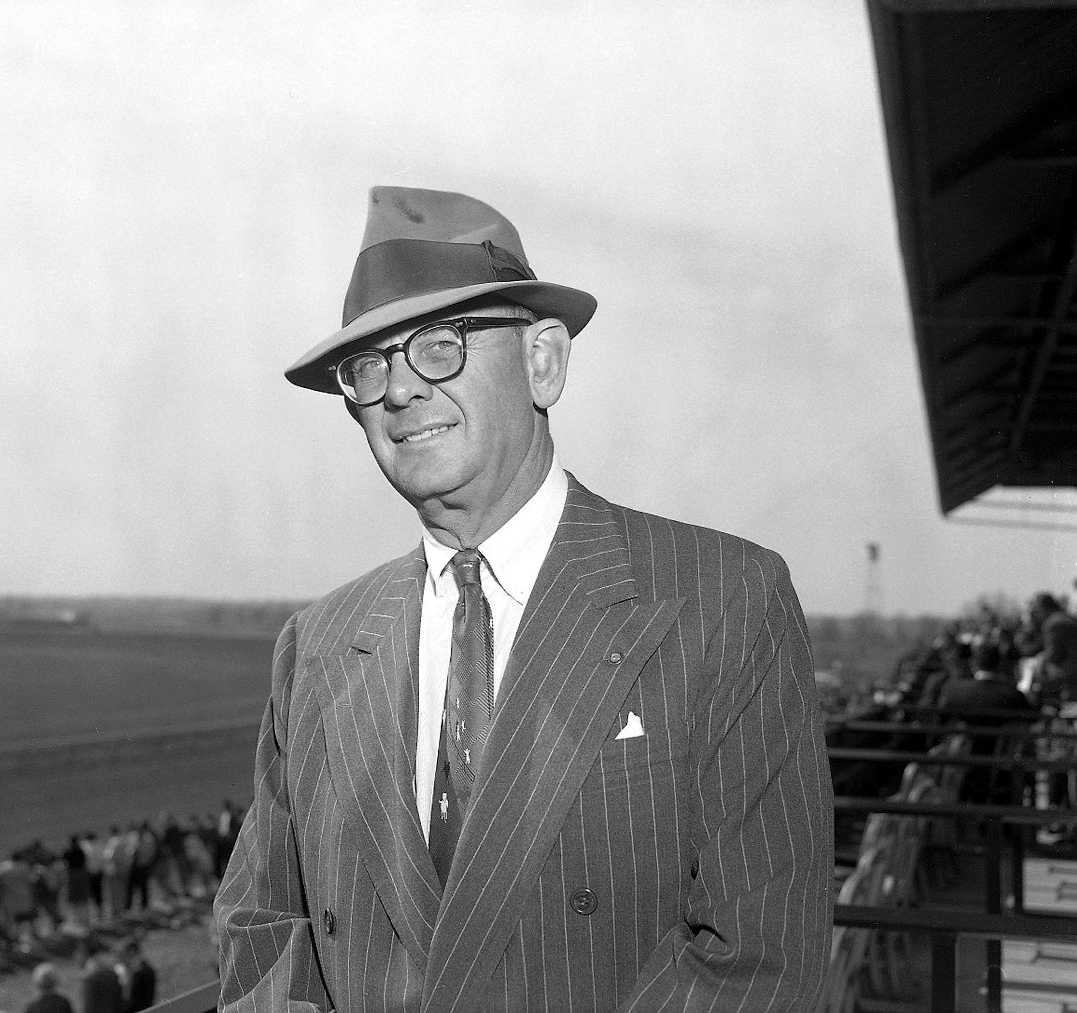 "Arthur B. ""Bull"" Hancock, Jr. at Keeneland, April 1960 (Keeneland Library Morgan Collection)"