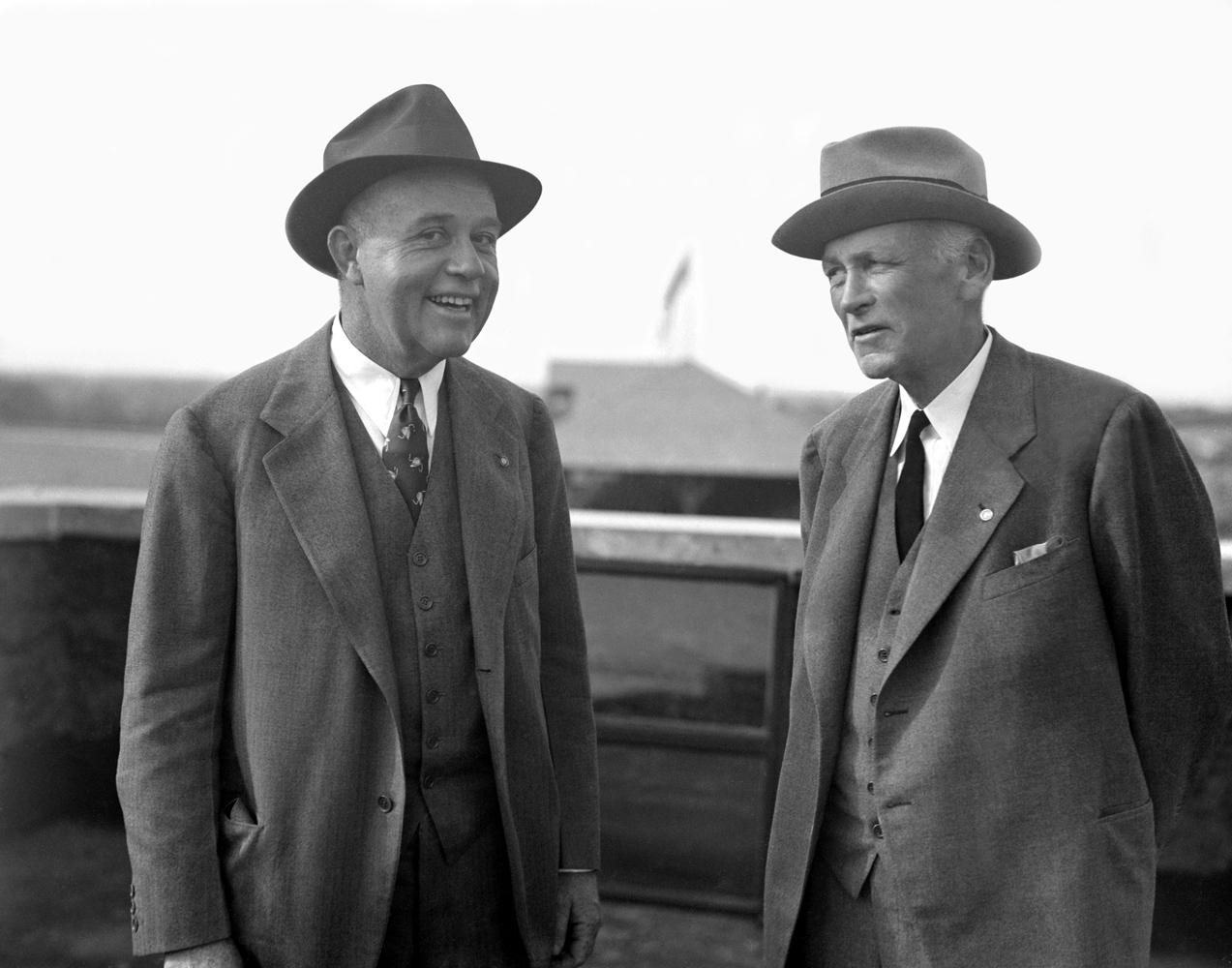 Hal Price Headley and John Oliver Jack Keene (Keeneland Association)