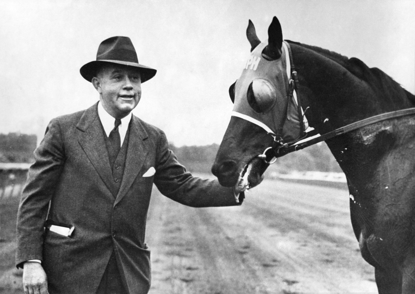 Hal Price Headley and Menow (Courtesy of Mill Ridge Farm)