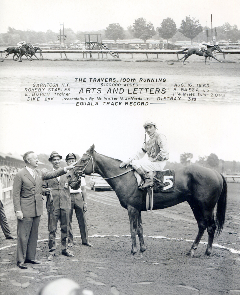Win composite photograph for the 1969 Travers Stakes at Saratoga (won by Paul Mellon's Arts and Letters) (NYRA/Museum Collection)