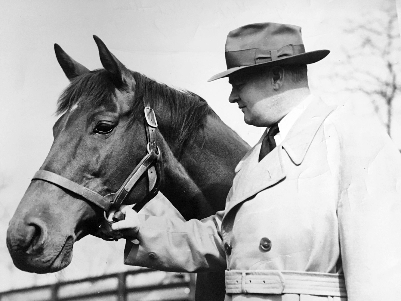 Ogden Phipps with Black Helen (Keeneland Library Thoroughbred Times Collection)