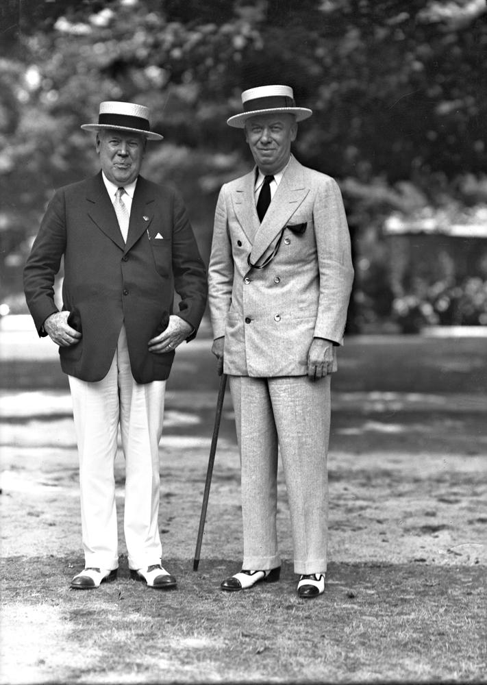 Matt Winn and Joseph Smoot (Keeneland Library Cook Collection)
