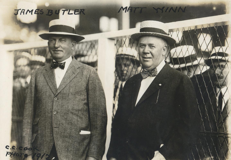 James Butler and Matt Winn in 1912 (C. C. Cook/Museum Collection)