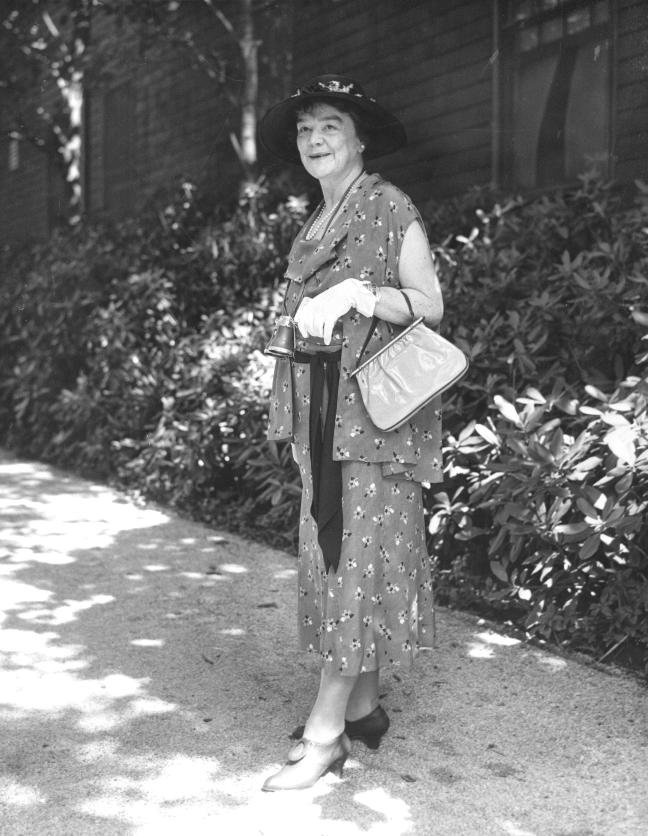 Helen Hay Whitney at Belmont, 1933 (Keeneland Library Morgan Collection)