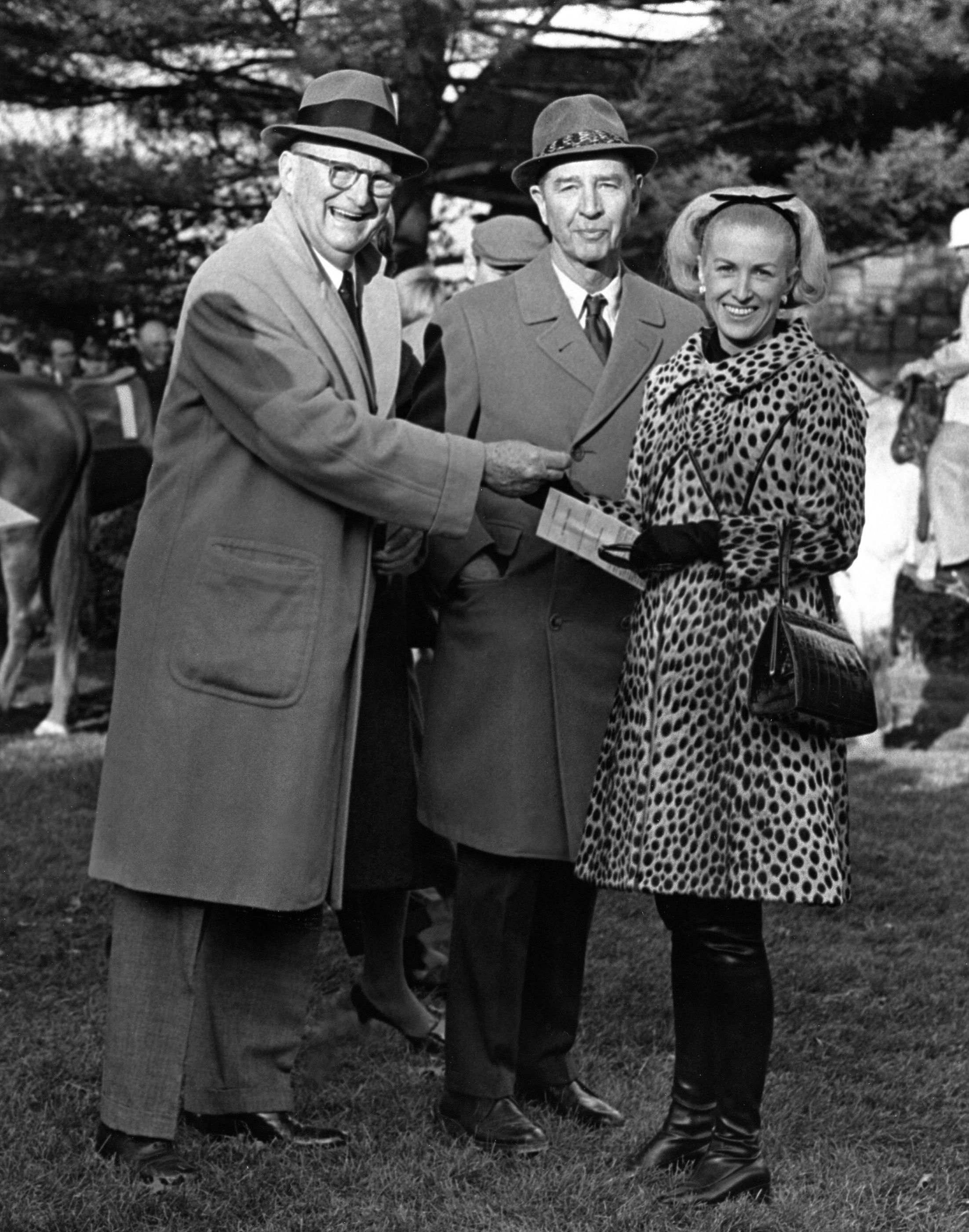 C. V. Whitney, middle, with Leslie Combs and Marylou Whitney (Keeneland Association)