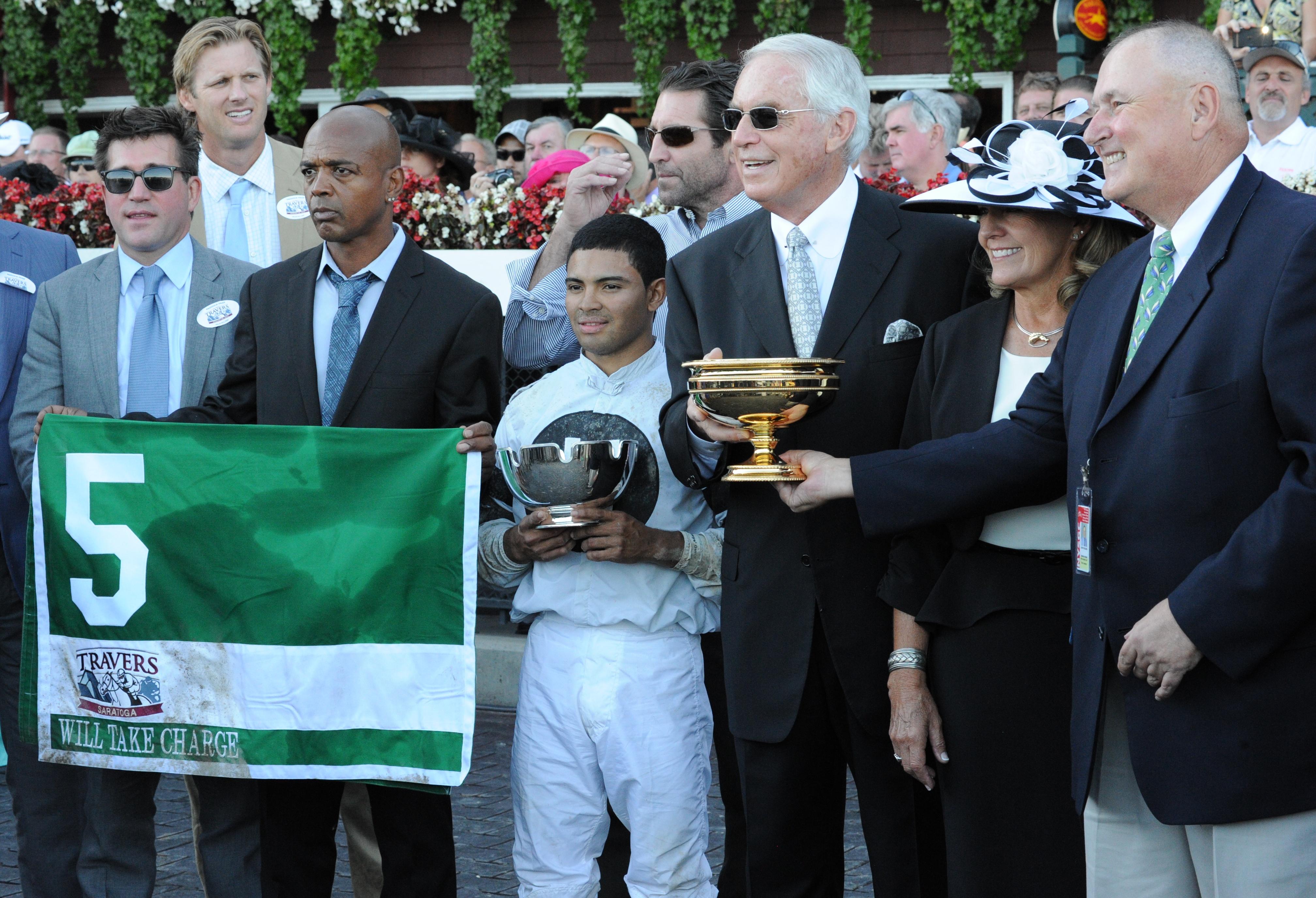 D. Wayne Lukas, 2013 Travers Stakes (Bob Mayberger)